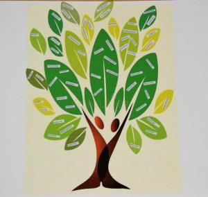 un arbre symbolisant la nouvelle communauté